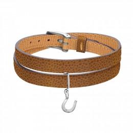 Bracelet en cuir avec un fer à cheval en argent