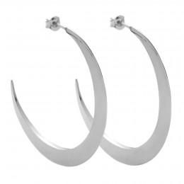Boucles d'oreilles demi-lunes XL plaquées argent