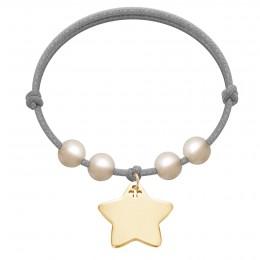 Bracelet Happiness plaqué or