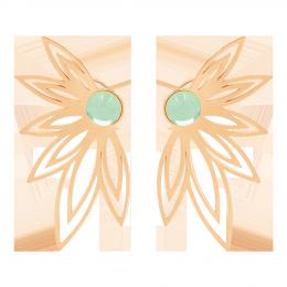 Boucles d'oreilles Sunshine avec une améthyste verte