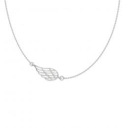 Collier chaîne avec aile ajourée en argent