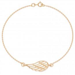 Bracelet chaîne avec une aile ajourée plaquée or