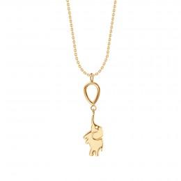Collier chaîne Eléphant, plaqué or