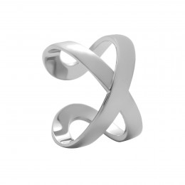 Bague Infinity or blanc poinçon 585