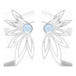 Boucles d'oreilles Sunshine avec un quartz bleu