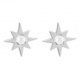 Boucles d'oreilles Star argent avec quartz blanc