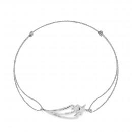Bracelet avec une Constellation argentée sur un  cordon argenté épais premium
