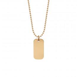 Collier avec médaille 3 cm sur chaîne, plaqué or