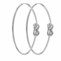 Ensemble de boucles d'oreilles Eternity de 5 cm en argent