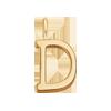 Lettre D plaqué or
