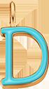 Pendentif Sens 1 cm, D, émail turquoise, plaqué or