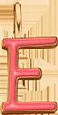 Pendentif Sens 1 cm, E, émail corail, plaqué or