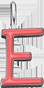 Pendentif Sens 1 cm, E, émail corail, plaqué argent