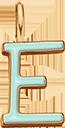 Pendentif Sens 1 cm, E, émail menthe, plaqué or