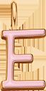 Pendentif Sens 1 cm, E, émail rose, plaqué or