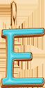 Pendentif Sens 1 cm, E, émail turquoise, plaqué or