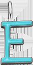 Pendentif Sens 1 cm, E, émail turquoise, plaqué argent