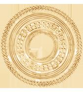 Etno, 3,1 cm, plaqué-or