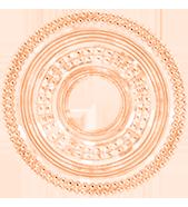 Etno, 3,1 cm, plaquée or rose