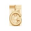 Lettre G plaqué or
