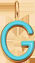 Pendentif Sens 1 cm, G, émail turquoise, plaqué or