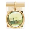 Pendentif avec quartz vert, plaqué or, 1 cm