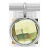 Pendentif avec quartz vert, plaqué argent, 1 cm