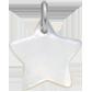 Étoile en nacre de 1,5 cm, argent