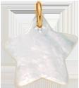 Étoile en nacre de 2 cm, PO