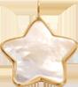 Étoile en nacre de 1,5 cm avec bordure d'or