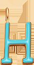 Pendentif Sens 1 cm, H, émail turquoise, plaqué or