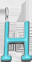 Pendentif Sens 1 cm, H, émail turquoise, plaqué argent
