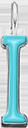 Pendentif Sens 1 cm, I, émail turquoise, plaqué argent