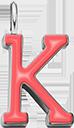 Pendentif Sens 1 cm, K, émail corail, plaqué argent
