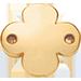 un trèfle rond plat plaqué or