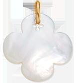 Trèfle rond en nacre de 2,7 cm, PO