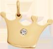 Couronne Princess de 1,5 cm plaquée or