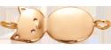Minou plaqué or au poignet 2,5 cm