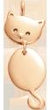 Pendentif Minou plaqué or 2,3 cm