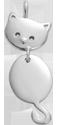 Pendentif Minou en argent 2,3 cm