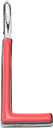 Pendentif Sens 1 cm, L, émail corail, plaqué argent