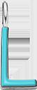 Pendentif Sens 1 cm, L, émail turquoise, plaqué argent