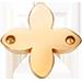 une fleur de lys plate plaquée or