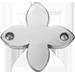 une fleur de lys plate en argent