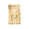Lettre M plaqué or