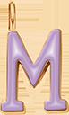 Pendentif Sens 1 cm, M, émail violet, plaqué or