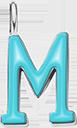 Pendentif Sens 1 cm, M, émail turquoise, plaqué argent