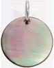 médaille en nacre foncée de 1,5 cm, argent