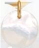 Médaille en nacre de 1,5 cm, PO