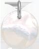 Médaille en nacre de 1,5 cm, argent